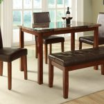 Small Rectangular Dining Table With Triple Chairs And Bench