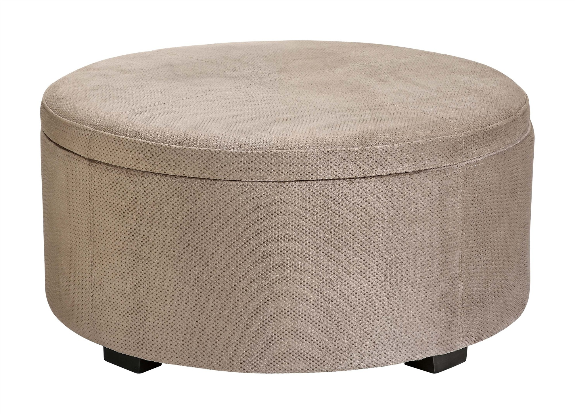 how to make a round storage ottoman