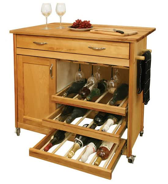 Kitchen Island With Wine Rack Design Options