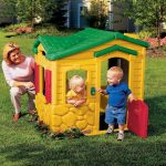 Small Playhouse In Dominant Yellow For Toddlers