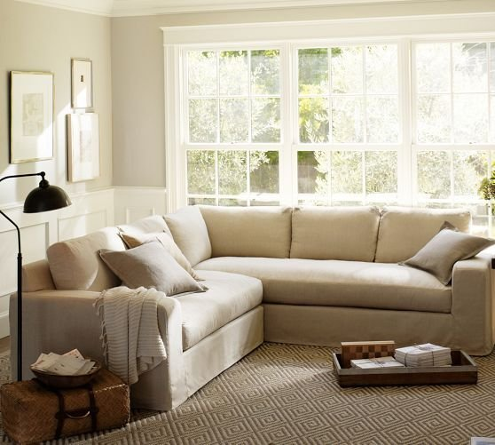 Apartment size sectional selections for your small space for Large sofa small room