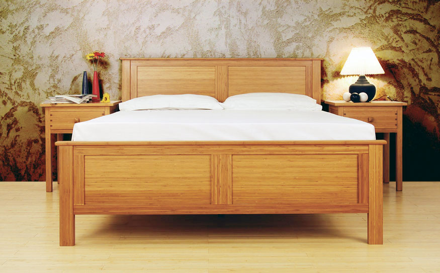 Solid Wood Platform Bed Baxton Studio Celine Modern And  : Solid wood platform bed frame with headboard white bedding set a pair of solid wood bedside tables with drawers  from franklinpennsylvania.us size 875 x 543 jpeg 103kB