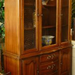 Stunning Wooden Tall China Cabinet With Solid Wood