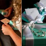 Tiffany Wedding Gifts With Jewelry And White Ribbon