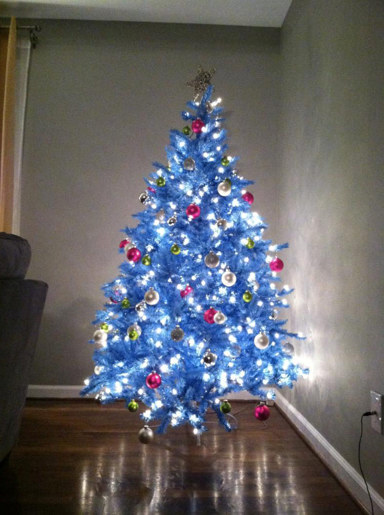 Blue Fiber Optic Christmas Tree