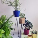 Two Black Metal Stands For Indoor Decorative Plants