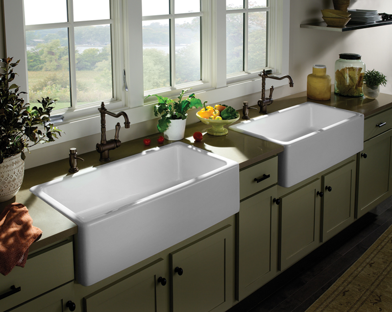 Farmhouse sink options for kitchen homesfeed for White farm kitchen