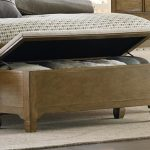 Unfinished wooden end bed bench idea with storage