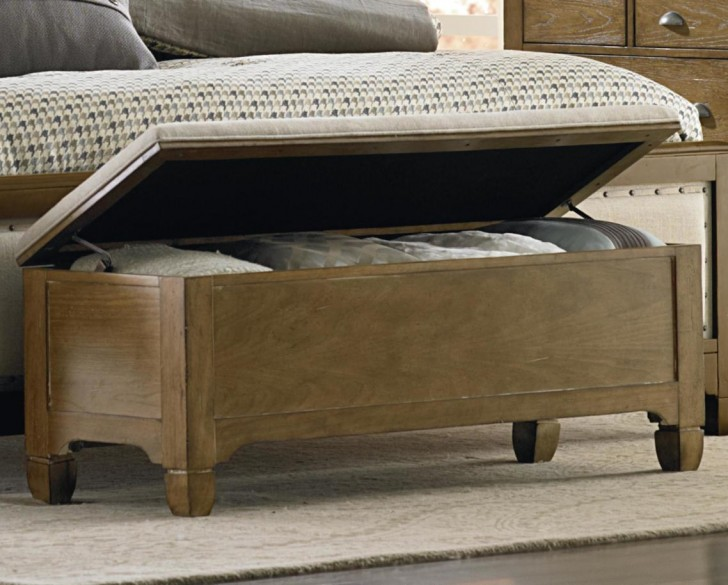 A Unfinished Wooden End Bed Bench Idea With Storage