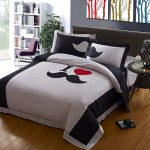 Unique And Cool Comforter Sets Design With Words And Love Symbol