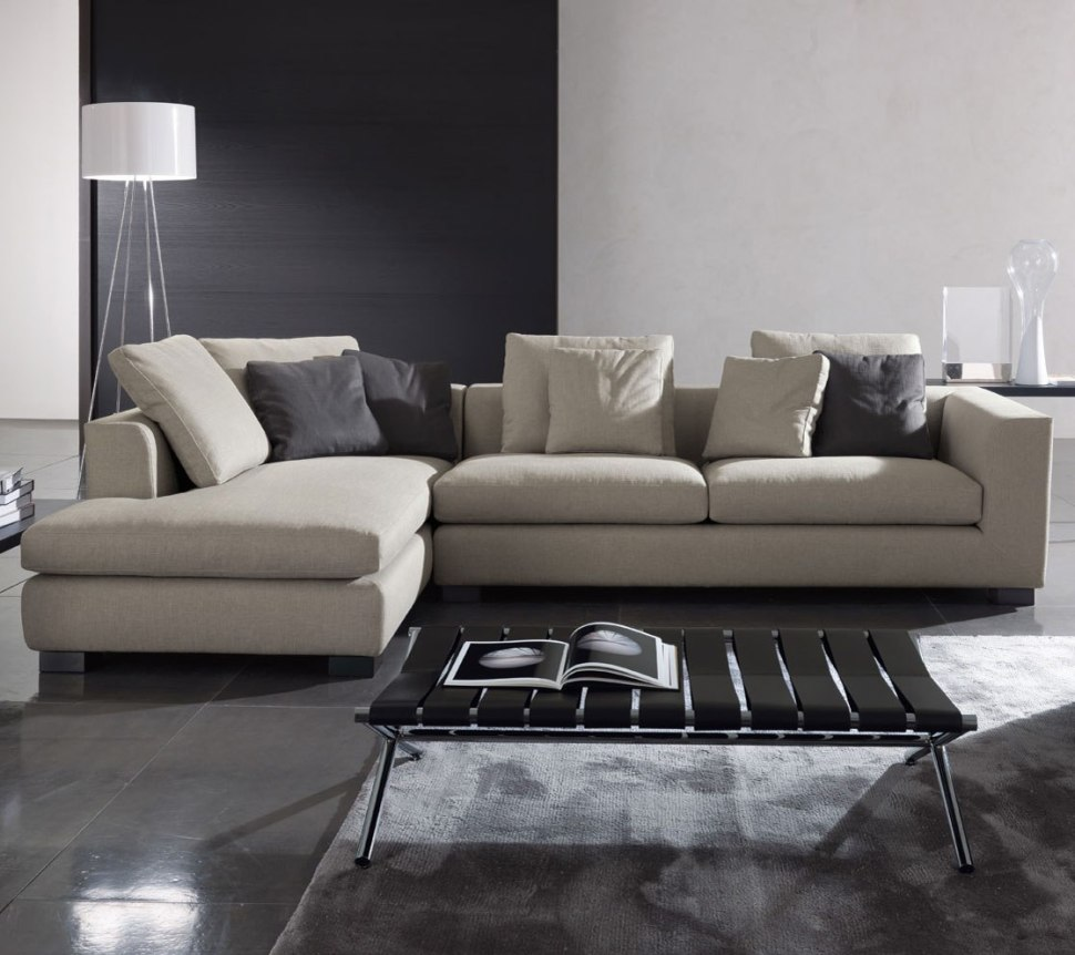 Unique Sectional Sofas With Black Coffee Table