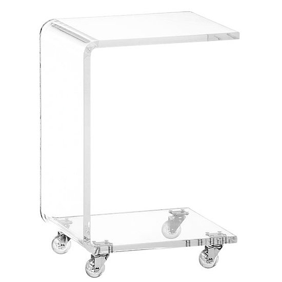 Unique Clear Acylic Table With Casters