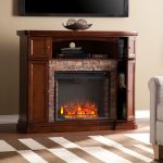 Upton-Home-Davenport-Faux-Stone-Electric-Media-Fireplace-with-classic-silhouette-and-stylish-espresso-finish-with-arched-media-shelf-also-classic-brick-style-interior
