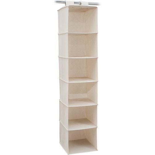 Vertical White Closet Organizer From Walmart