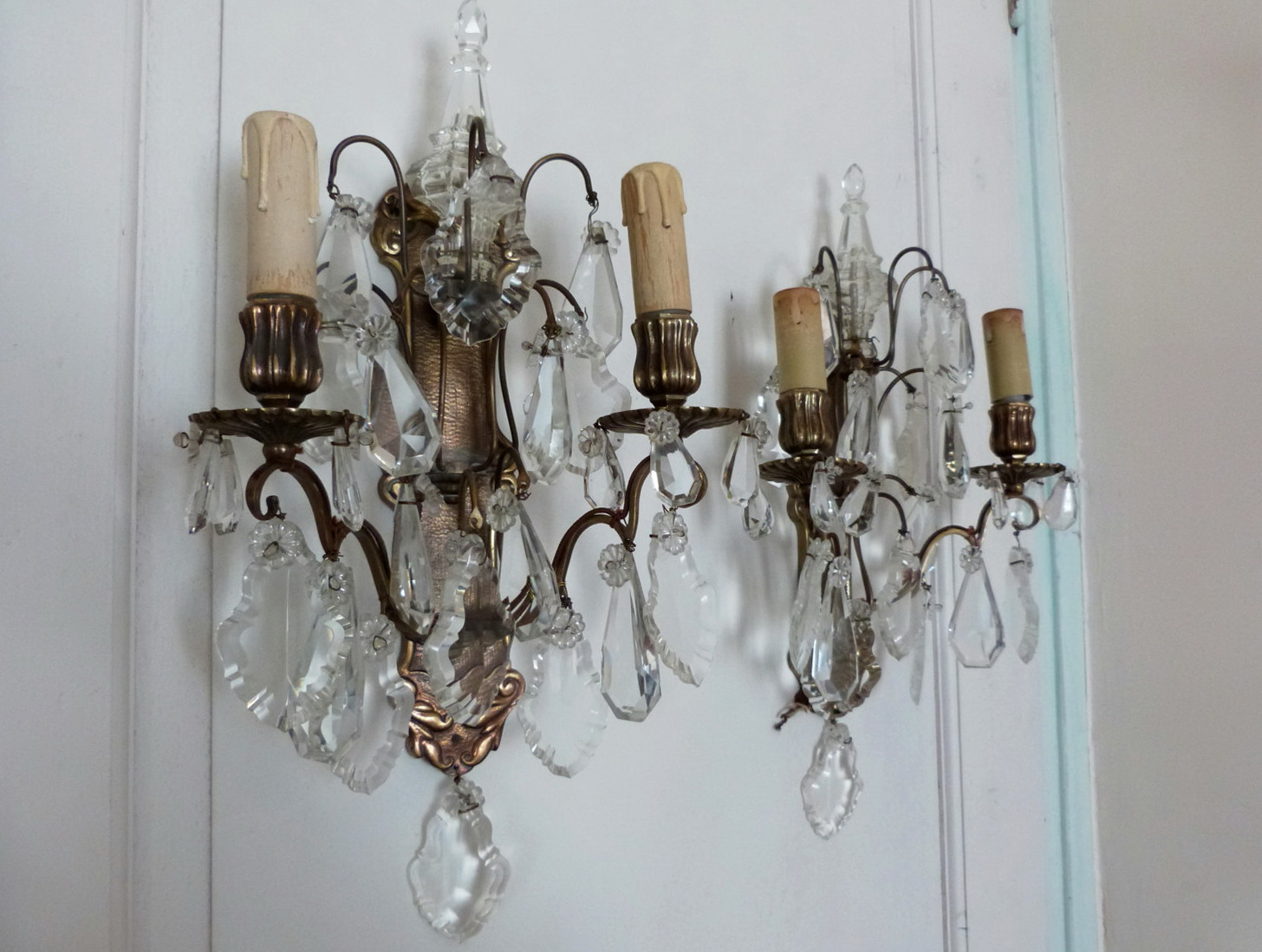 Battery Operated Crystal Wall Sconces : Battery Operated Sconce HomesFeed
