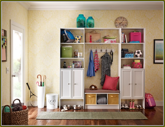 Walmart closet organizer idea without door