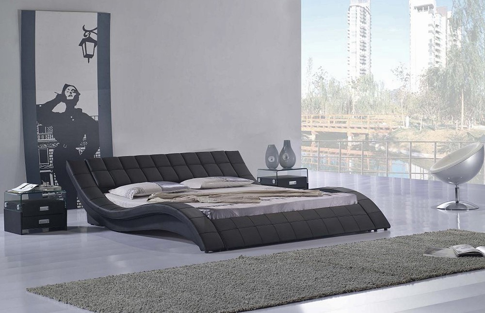 Low profile platform bed frame homesfeed for Low height furniture design