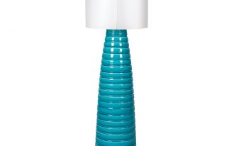 White And Turquoise Floor Lamp