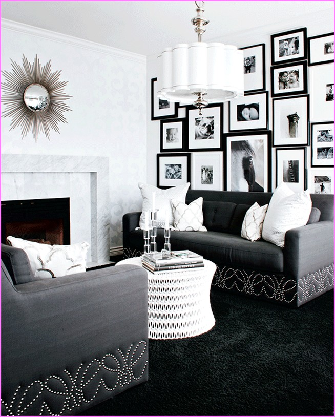 Hollywood glam living room ideas living room for Decor glamour
