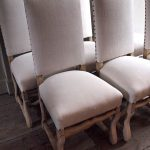 White French White Upholstered Dining Chair