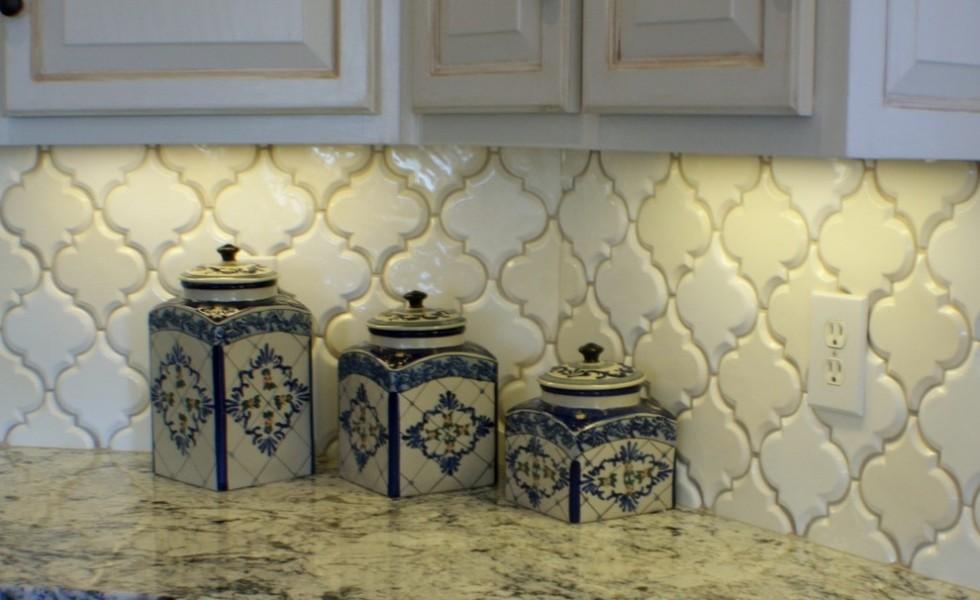 Arabesque tile kitchen backsplash westside tile and stone - Beveled Arabesque Tile Roselawnlutheran