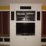 White In Wall Entertainment Center For TV