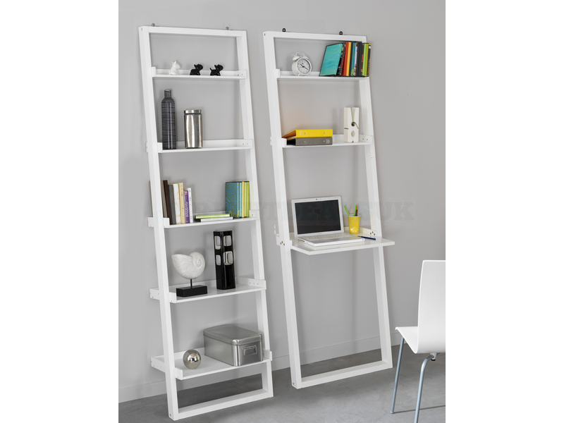 96 Shelf And Desk Unit Home Design Office Wall