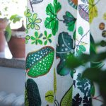 White Leaves Ikea Patterned Curtains