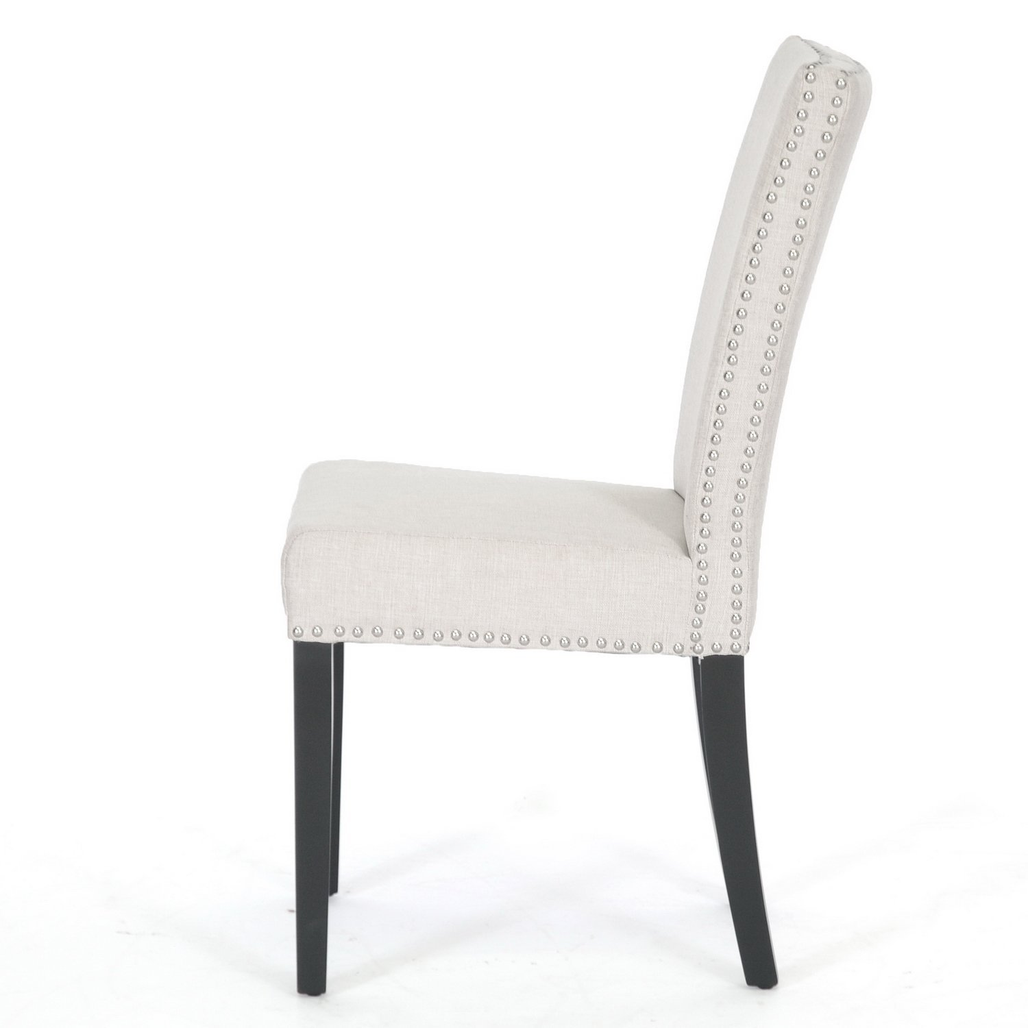 White upholstered dining chair homesfeed for Chair design leather