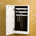 White Wall Mounted Hanging Jewelry Armoire