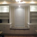 White Window Seats With Storage And Cool Lighting