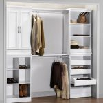 White Wooden Closet Storage Cabinet Organizer