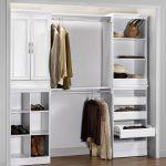 White Wooden Closet Storage Cabinet Organizer