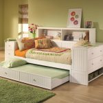 White Wooden Daybeds with Storage And Drawers For Girls Bedroom