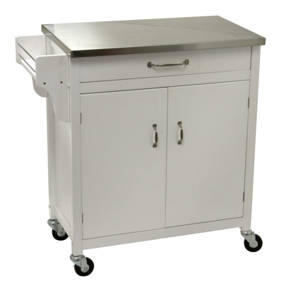 Go Home Black Industrial Kitchen Cart At Lowes Com: Kitchen Carts On Wheels: Movable Meal Preparation And