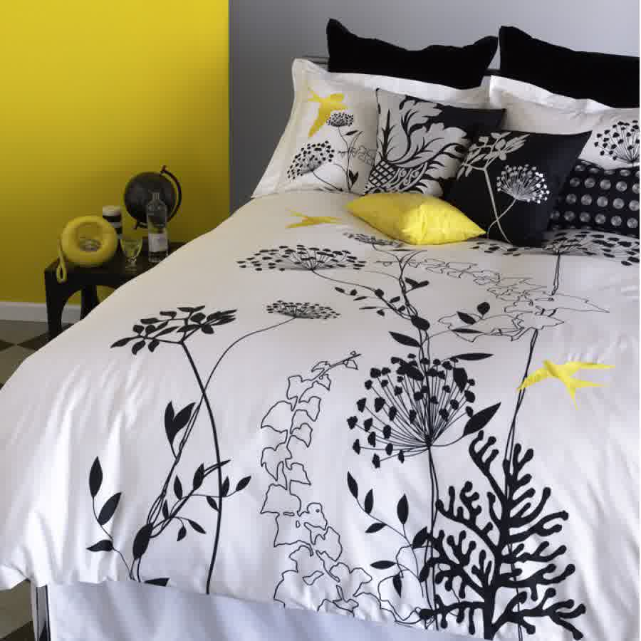 White Comforter Cover With Beautiful Fl Motif Designed By Ikea