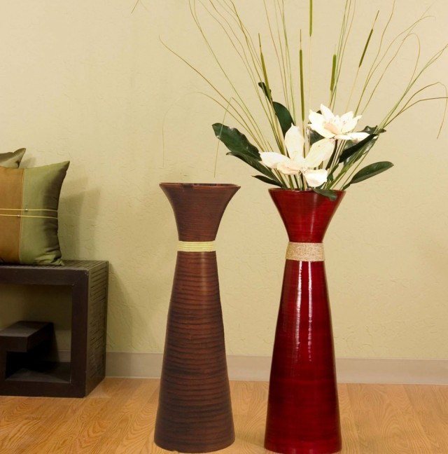 Natural elements as brilliant and pricy vase filler ideas for Floor vase ideas