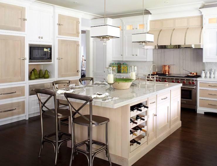 White Kitchen Island With Under Storage And Wine Rack Idea Some Dark Silver Painted Barstools Unique
