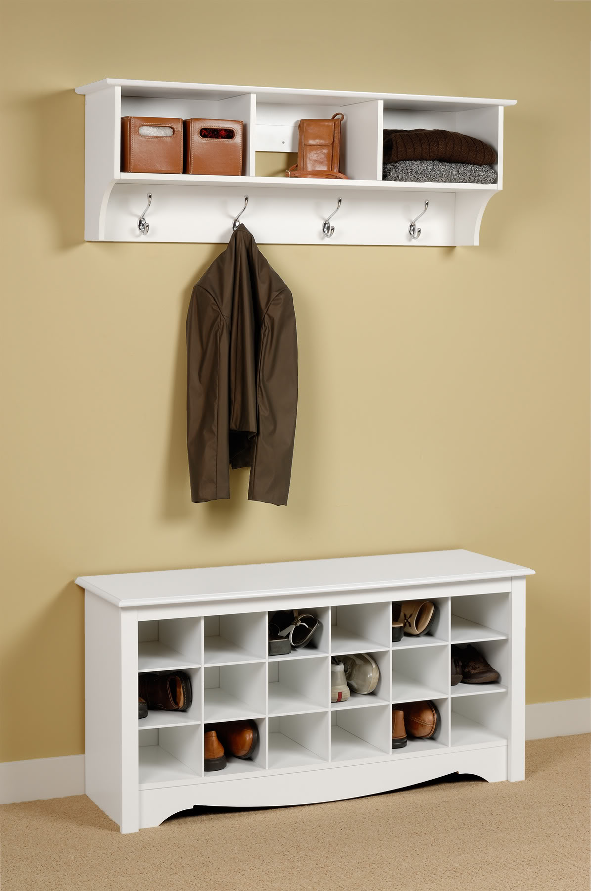 Entryway shoe storage ideas homesfeed for Foyer storage ideas