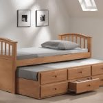Wood Bed Frame With Headboard Footboard And Base Drawers Designed By IKEA