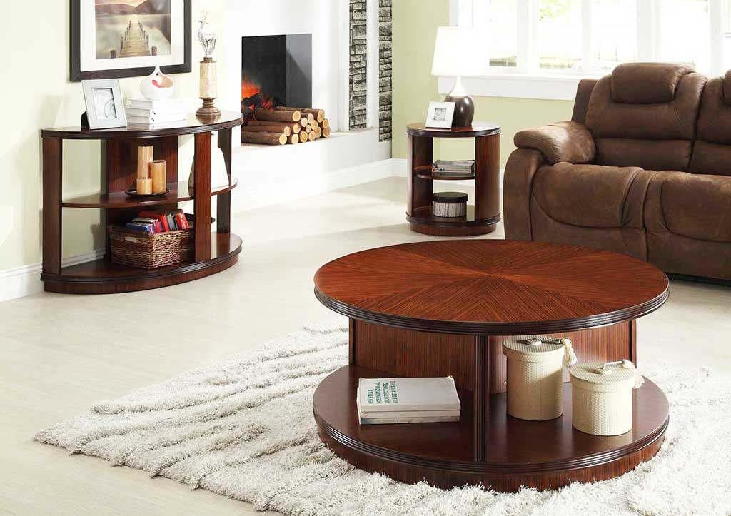 Round coffee tables with storage homesfeed Round coffee table in living room
