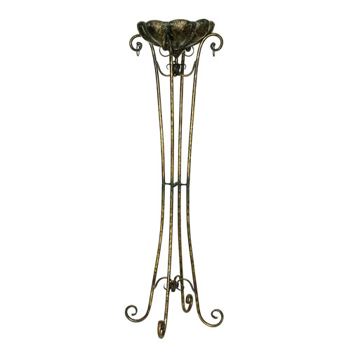 Wrought Iron Tall Stand Plant In Clic Style