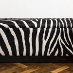 Zebra print bench idea with under storage