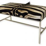 Zebra print idea for bench with lightweight metal base