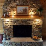 Rustic Fireplace Mantel Designs with Stone Material Design
