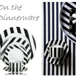 Adorable Black And White Dinnerware Idea With Plate Cup And Tray