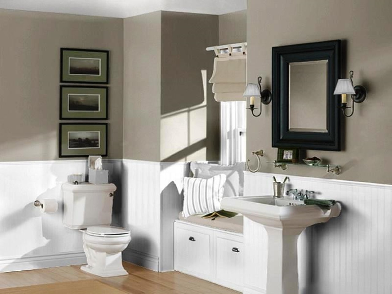 Perfect bathroom color trend for 2016 homesfeed What color to paint a small bathroom