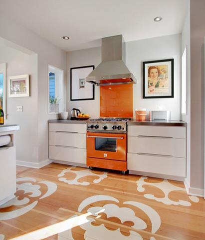 White Kitchen Orange Accents how to insert orange tone in the kitchen – energizing effect