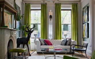 amazing extra long curtain rods in green scheme plus white tufted leather sofa in ecletic living room ideas with glass top coffee table