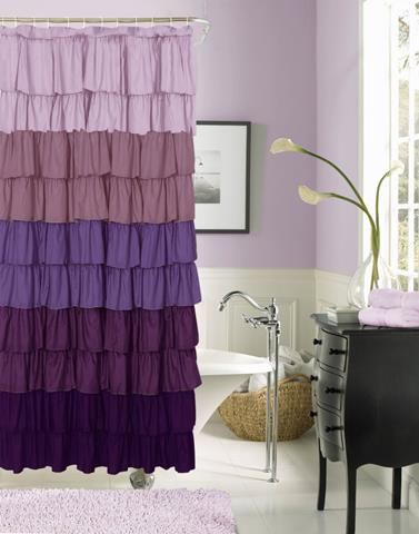 amazing gradation purple curtain idea with sleeve in the bathroom for bathtub and shower and lily. colorful interior design ... & Some Ways to Create Spring Mood in the Interior | HomesFeed